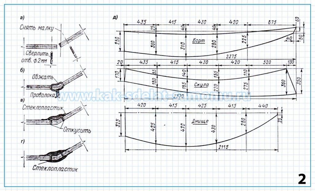 чертежи лодок из пенопласта